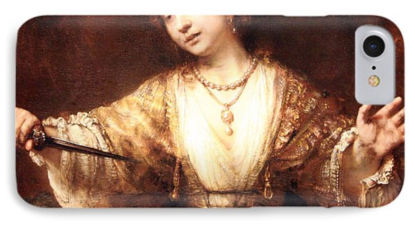 Rembrandt's Lucretia IPhone Case by Cora Wandel