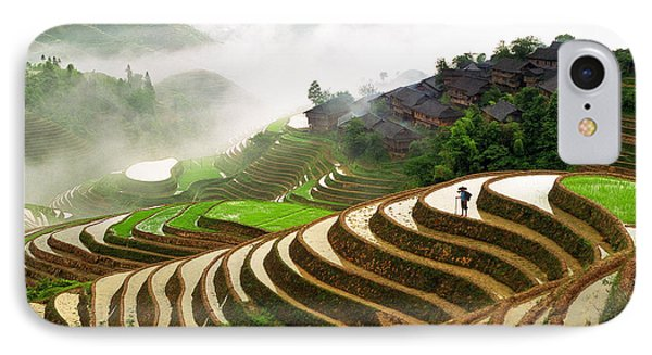 Rice Terraces IPhone Case by King Wu