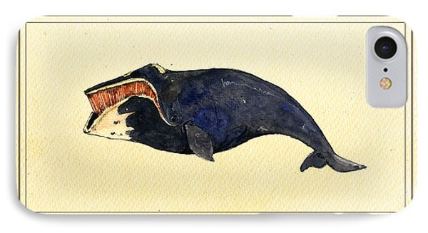 Right Whale IPhone Case by Juan  Bosco