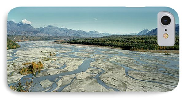 River Passing Through Mountains IPhone Case by Panoramic Images