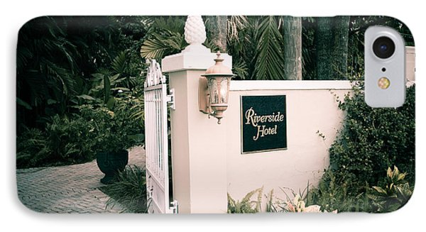 Riverside Hotel IPhone Case by Bill Howard