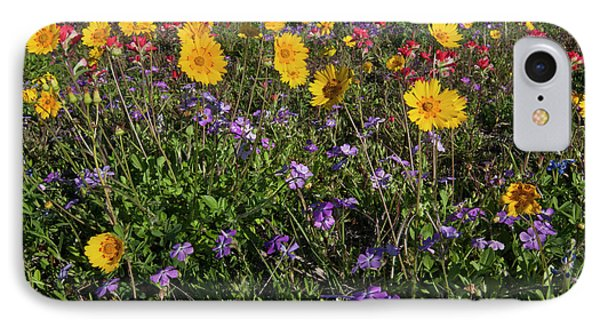 Roadside Wildflowers In Texas, Spring IPhone Case