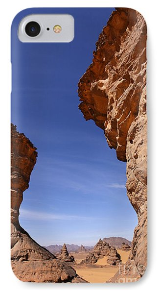 Rock Formations In The Akakus Mountains In The Sahara Desert Phone Case by Robert Preston