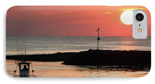 Rock Harbor Sunset IPhone Case by Jim Gillen