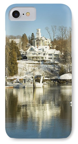 Rockport In Winter On The Coast Of Maine IPhone Case by Keith Webber Jr