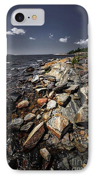 Rocky Shore Of Georgian Bay Phone Case by Elena Elisseeva