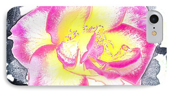 Rose 3 IPhone Case by Pamela Cooper