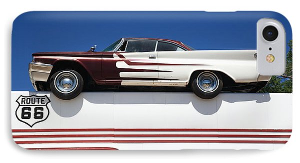 Route 66 - Desoto's Salon Phone Case by Frank Romeo