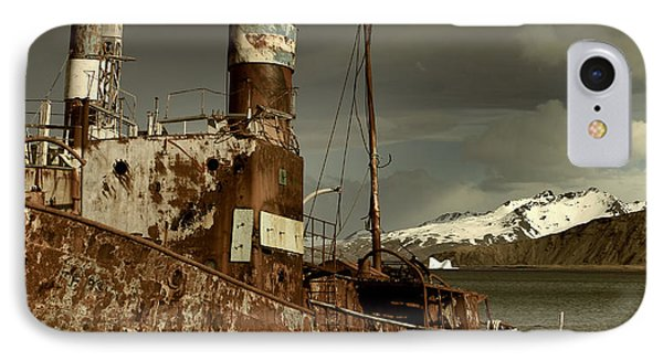Rusted Whaling Boats IPhone Case by Amanda Stadther