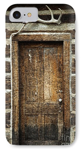 Rustic Cabin Door Phone Case by John Stephens
