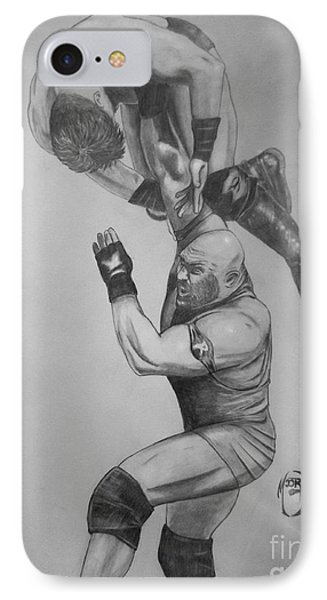 IPhone Case featuring the drawing Ryback by Justin Moore