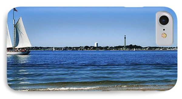 Sailboat In Ocean, Provincetown, Cape IPhone Case by Panoramic Images