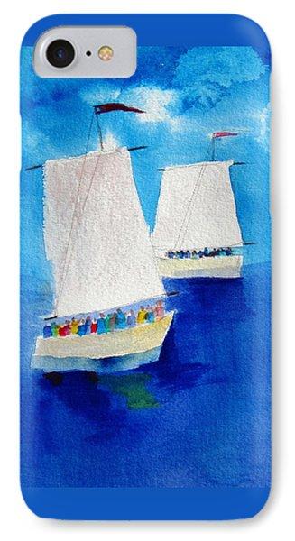 2 Sailboats IPhone Case by Carlin Blahnik