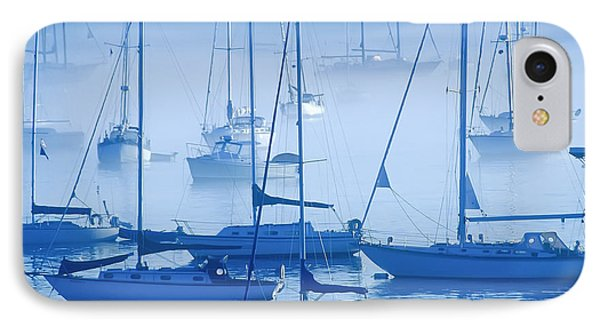 Sailboats In The Fog - Maine IPhone Case