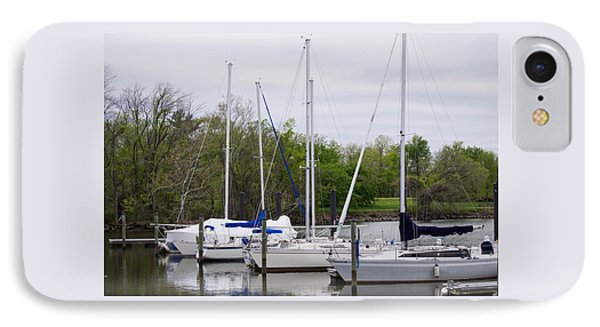 Sailboats Of The Potomac River IPhone Case by Debra Bowers