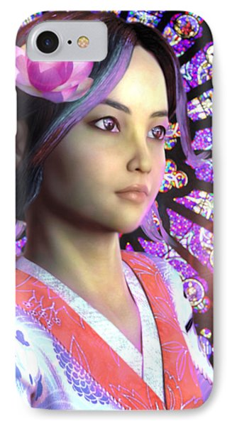 Saint Lucy Yi Zhenmei Of China IPhone Case by Suzanne Silvir