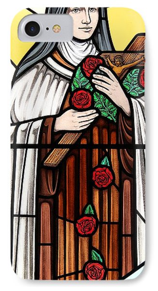 Saint Therese Of Lisieux IPhone Case by Gilroy Stained Glass