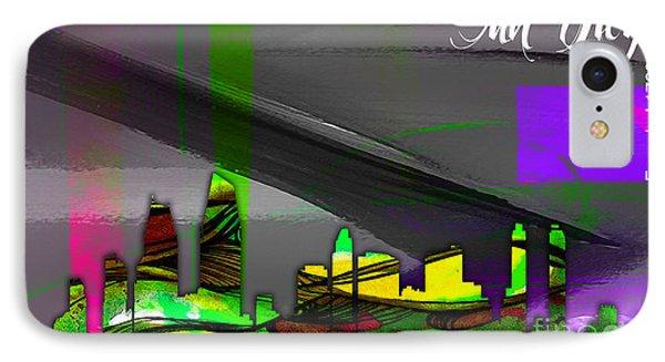 San Diego California Skyline Watercolor IPhone Case by Marvin Blaine