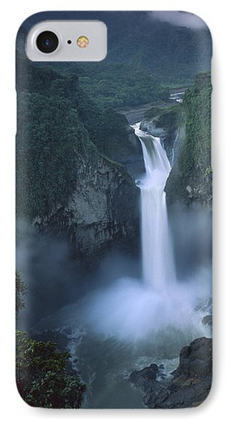 San Rafael Falls On The Quijos River Phone Case by Pete Oxford