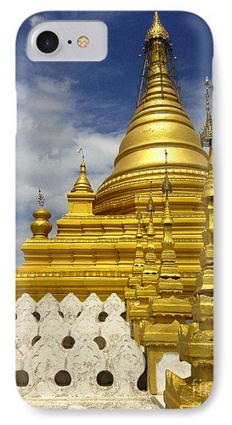 IPhone Case featuring the photograph Sandamuni Pagoda Mandalay Burma by Ralph A  Ledergerber-Photography