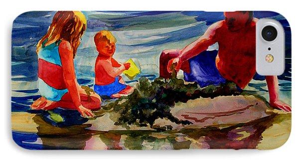 Sandcastles With Daddy Phone Case by Julianne Felton