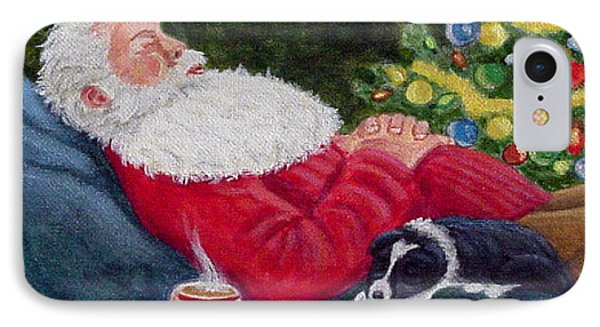 Santa And Breagh IPhone Case by Fran Brooks