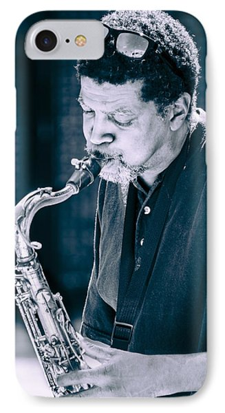 Saxophone Player 2 Phone Case by Carolyn Marshall