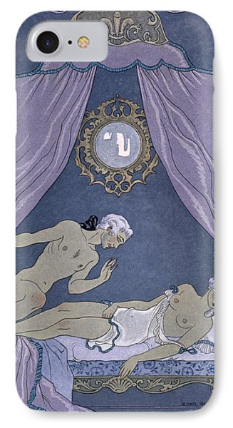 Scene From 'les Liaisons Dangereuses' IPhone Case by Georges Barbier