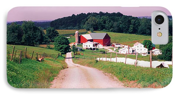 Scenic View Of A Farm, Amish Country IPhone Case by Panoramic Images