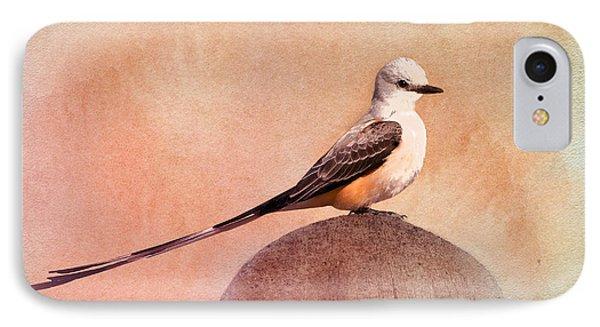 Flycatcher iPhone 7 Case - Scissor-tailed Flycatcher by Betty LaRue