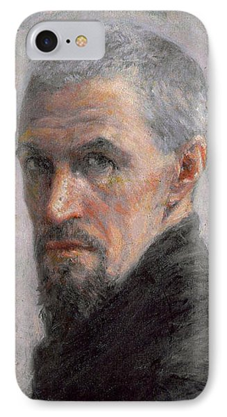 Self Portrait Phone Case by Gustave Caillebotte