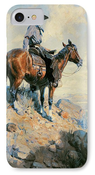 Sentinel Of The Plains Phone Case by William Herbert Dunton