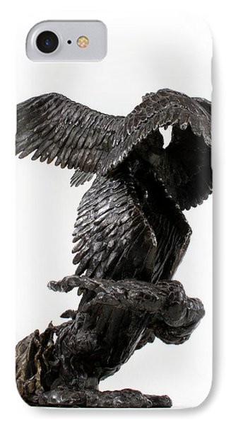 Seraph Angel A Religious Bronze Sculpture By Adam Long IPhone Case by Adam Long