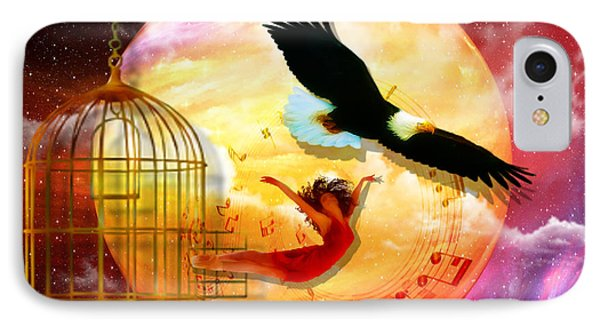 Set Free IPhone Case by Dolores Develde