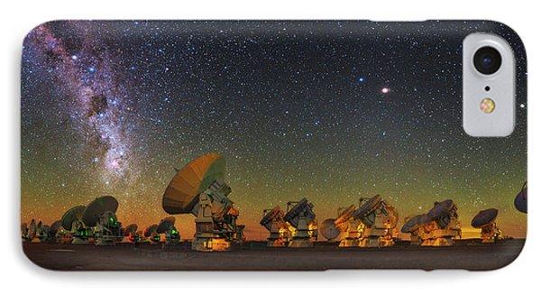Sky Above Alma Radio Telescope IPhone Case by Babak Tafreshi