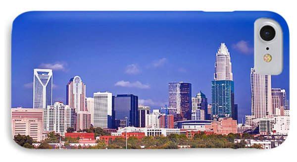 Skyline Of Uptown Charlotte North Carolina At Night Phone Case by Alex Grichenko