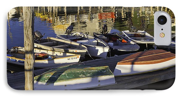 Small Boats And Dock In Port Clyde Maine IPhone Case