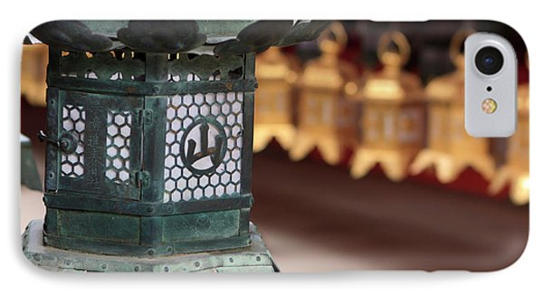 Smaller Metal And Gold Lanterns IPhone Case by Paul Dymond