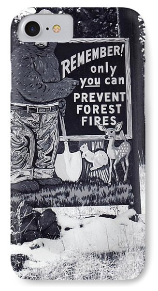 IPhone Case featuring the photograph Smokey The Bear by Juls Adams
