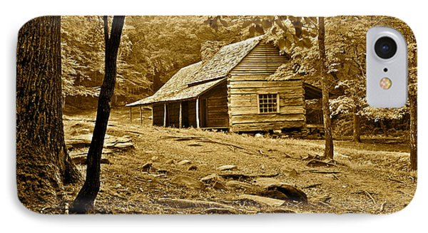 Smoky Mountain Cabin Phone Case by Frozen in Time Fine Art Photography