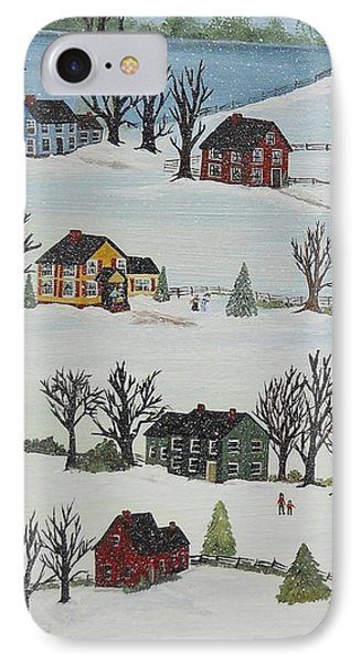 Snow Day IPhone Case by Virginia Coyle