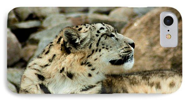 Snow Leopard IPhone Case by Daniel Precht