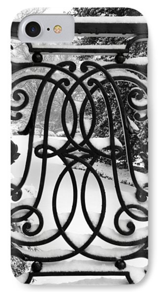 Snow On Private Property IPhone Case by Cora Wandel