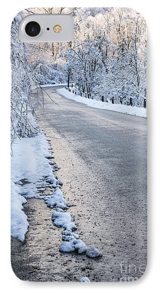 Snow On Winter Road IPhone Case by Elena Elisseeva