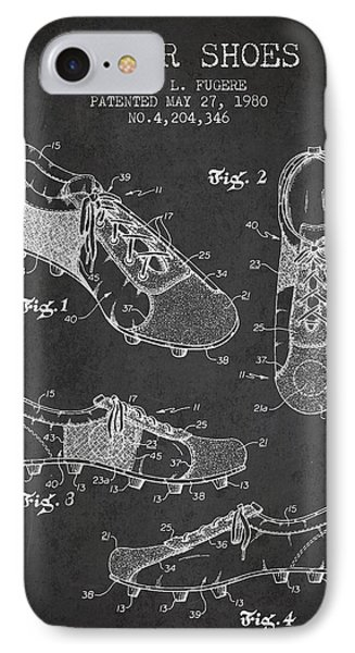 Soccershoe Patent From 1980 IPhone Case by Aged Pixel