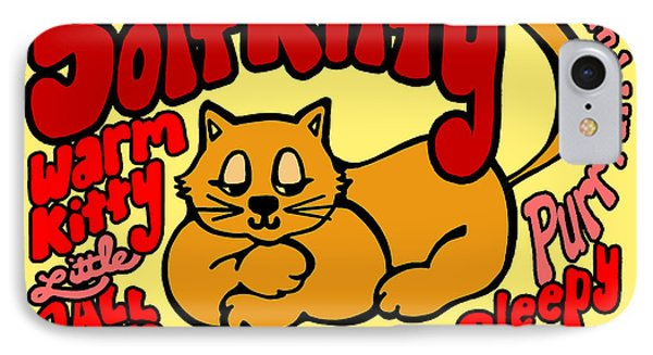 IPhone Case featuring the drawing Soft Kitty by Ginny Gaura
