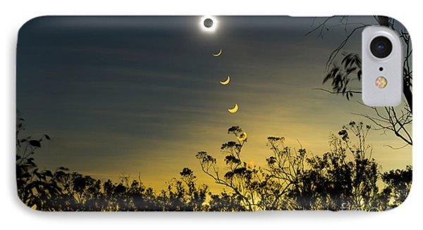 Solar Eclipse Composite, Queensland Phone Case by Philip Hart