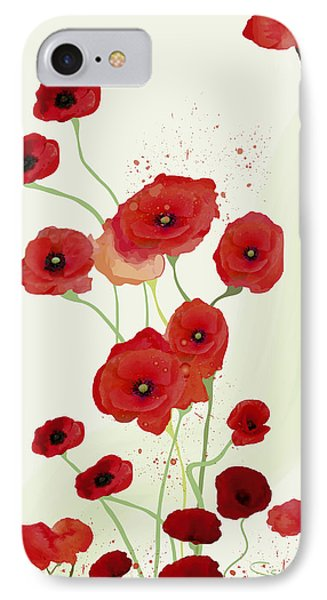 Sonata Of Poppies IPhone Case by Gabriela Delgado