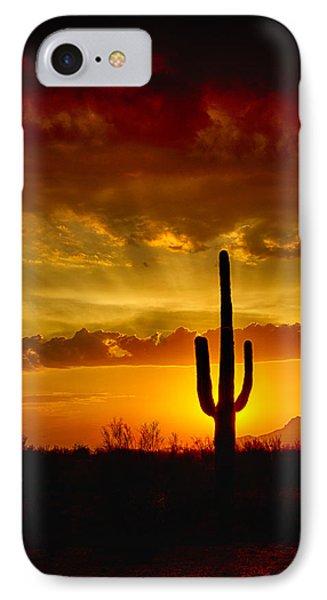 Southwestern Style Sunset  Phone Case by Saija  Lehtonen