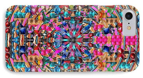 Sparkle  Chakra Format Art  Navinjoshi  Rights Managed Images Graphic Design Is A Strategic Art Mean IPhone Case by Navin Joshi